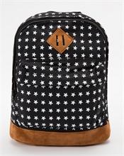 Komi - Sac à dos - Noir motifs étoiles - 27x22cm - %