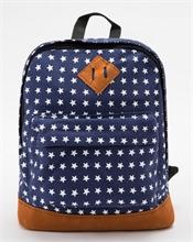 Komi - Sac à dos - Navy motifs étoiles - 27x22cm - %