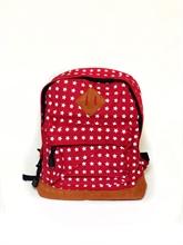 Komi - Sac à dos - Rouge motifs étoiles - 27x22cm - %