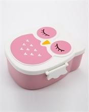 Bento Chouette - Rose - 16x7x14cm - %