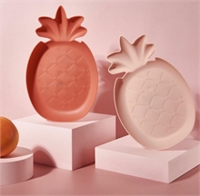 Assiettes Fruits - Rose Ananas - 29x19x3cm - %