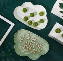 Assiettes Fruits - Vert Nuage - 28x19,5x3cm - %