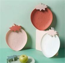 Assiettes Fruits - Rouge Fraise - 26,5x21x3cm - % #