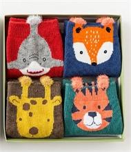Chaussettes enfant - Boîte cadeau - 4 paires de chaussettes - Dino - 1-3ans - %